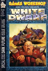Dengang i 80'erne var også dengang, at White Dwarf også var et rollespilsmagasin. Stille og roligt kom det til kun at handle om figurspillene, og nu om stunder synes det ikke at være meget andet end katalog over kommende figurer og maleguide med flotte fotos af figurerne.