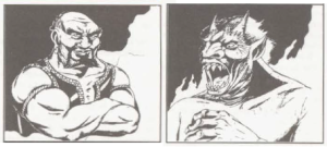 En Dao og en Efreet fra AD&D 2nd ed Monstrous Manual.