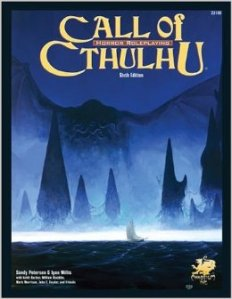 Call of Cthulhu 6th edition fra 2004.