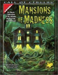 Version 2 af forsiden til Mansions of Madness.