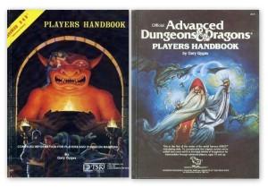Begge versioner af 1st edition