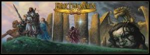 Omslaget til 4th ed Earthdawn-bøgerne.
