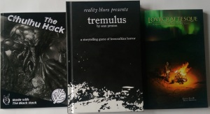Tre Cthulhu-rollespil: Tremulus, The Cthulhu Hack og Lovecraftesque