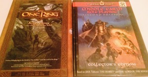 Middle-Earth Role Playing 2nd edition Collector's Edition & The One Ring - Slipcase Edition. To luksusversioner af Ringenes herre-rollespil