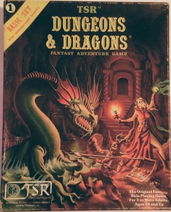 Det oprindelige Dungeons & Dragons er det ikke, men denne version er fra 1980. Året før den berømte røde æske. Mange tror fejlagtigt, at de har spillet det oprindelige D&D, når de har spillet Den røde æske.