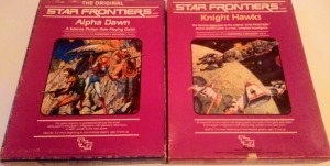 To box sets: Alpha Dawn og Knight Hawks til Star Frontiers