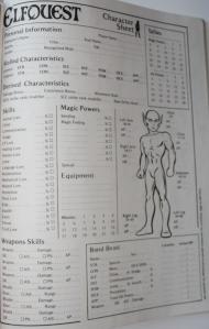 Tegneseriens indflydelse ses også på karakterarket, som inviterer til at man tegner sin karakter.