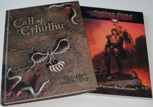 d20 version af Fading Suns og Call of Cthulhu. Begge er faktisk spilbare.