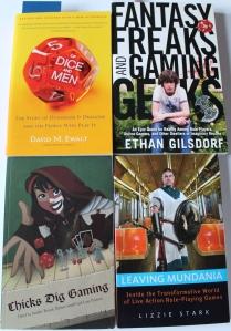 Et lille udvalg af bøger om hobbyen, som ikke er regelbøger.