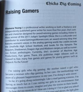 En tilfældig valgt artikel af fra Chicks dig Gaming af Filamena Young.
